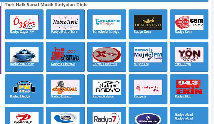 Türkü Radyoları Dinle