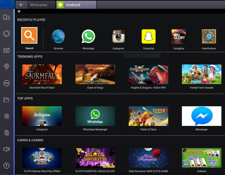 BlueStacks pc android