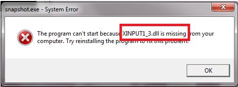 Xınput1_3.dll indir