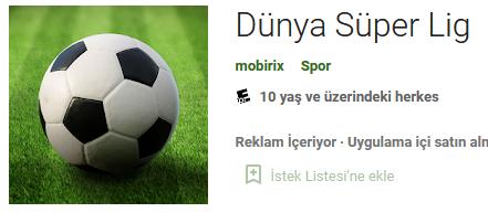 Dünya Süper Lig APK