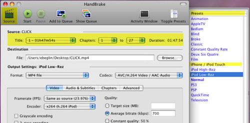 HandBrake indir Video Dönüştürme Programı